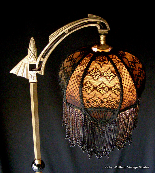 Antique Bridge Lamp and Shade