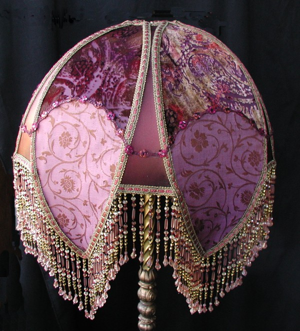 Victorian Lamp Shades on Victorian Lamp Shade This Wonderful All Silk Lampshade Is A Raspberry