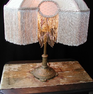 how to make a victorian lampshade with beaded fringing