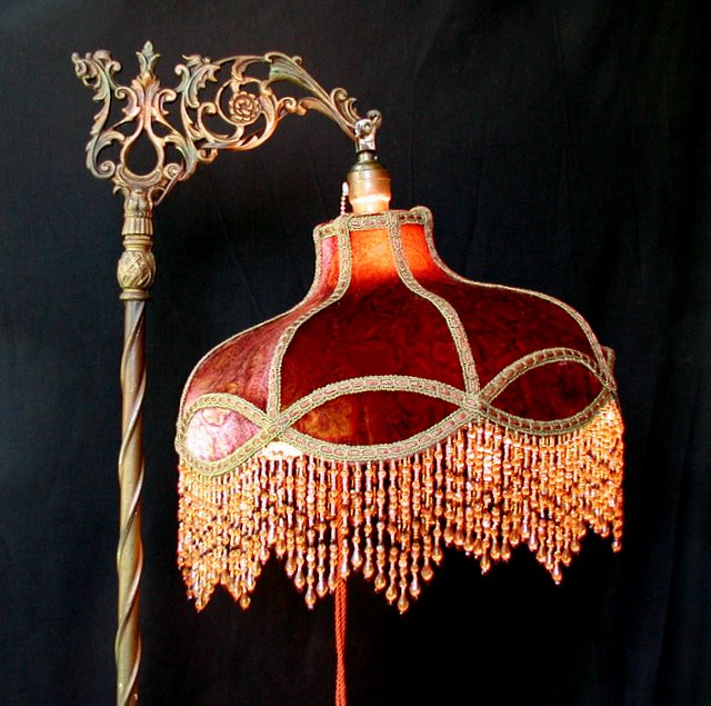 Victorian Lampshade And Antique Bridge Lamp